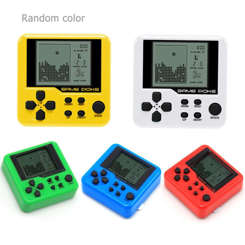 Toys Consoles Tetris-Brick Pets-Games-Machine Gaming Mini Electronic Child 26 Keychain