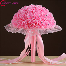 2017 New Wedding Flowers Bridal Bouquets Top Quality Wedding Bouquet buque de noiva Beautiful Rose Bridesmaid Hand Flower
