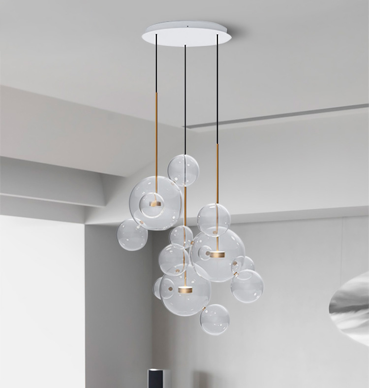 bubble lighting fixtures. Nordic Personality Bubble Ball Glass Pendant Lamp Hanging Light Designer Suspended Lighting Fixtures Living Room Bedroom-in Lights From