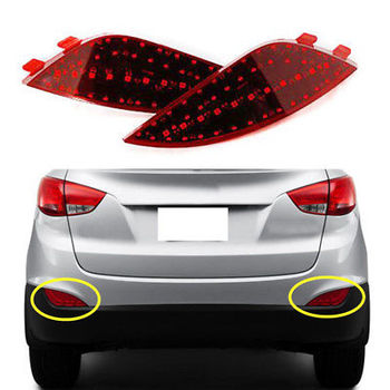 For Hyundai Tucson ix35 2010 2011 2012 2013 2014 2PCS Rear fog lights Assembly fog lamp accessories yellow Turn signal