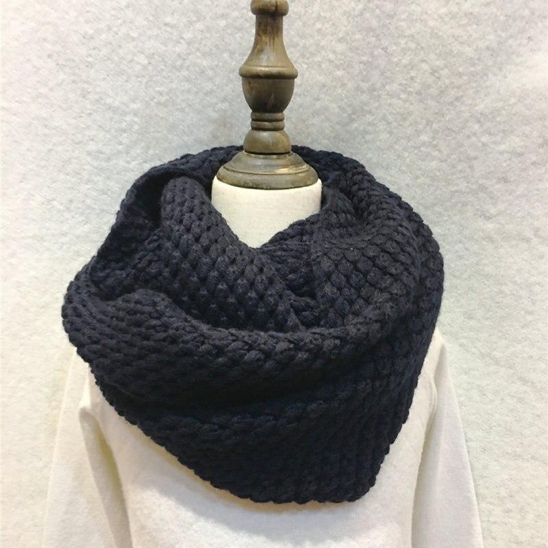 Mode Winter Gestrickte Handmade Unendlichkeit Schal Warm Solide ...
