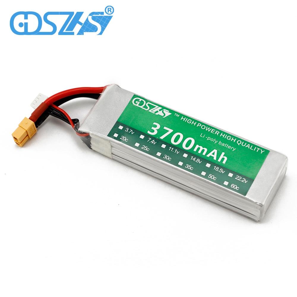 Elicottero 450 : Gdszhs rc potenza lipo batteria 3700 mah 11.1 v 3 s 30c per trex 450