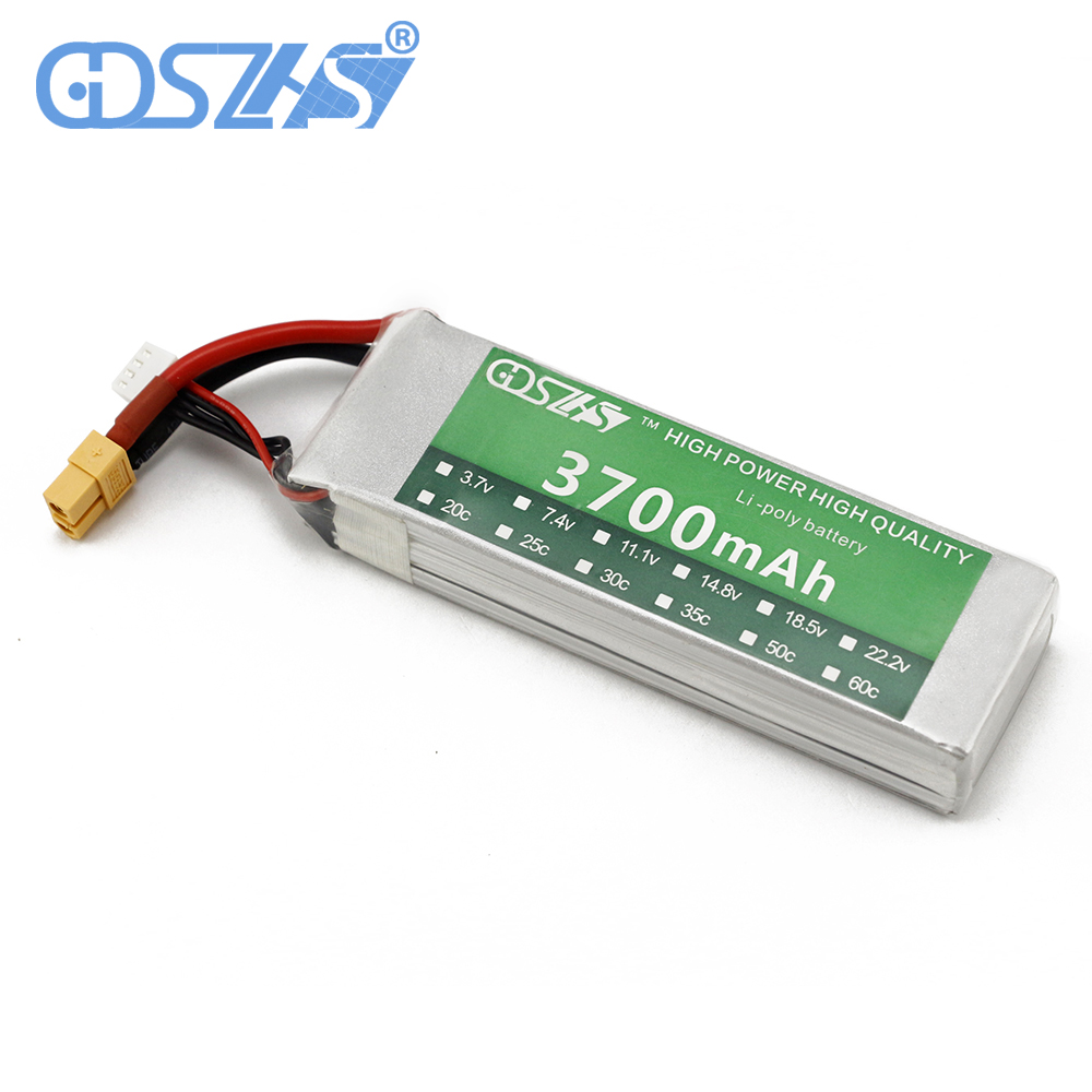 GDSZHS RC Power Lipo Battery 3700mAh 11.1V 3S 30C for Trex 450 CX20 Helicopter RC Airplanes Cars xxl rc lipo battery 2200mah 11 1v 3s 30c for trx 450 rc fixed wing helicopters airplanes cars