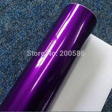 Глянцевая металлическая фиолетовая виниловая пленка для обертывания конфет Глянцевая фиолетовая автомобильная пленка ping с воздушным бесплатным полуночным фиолетовым блеском жемчужная пленка 1,52*20 м