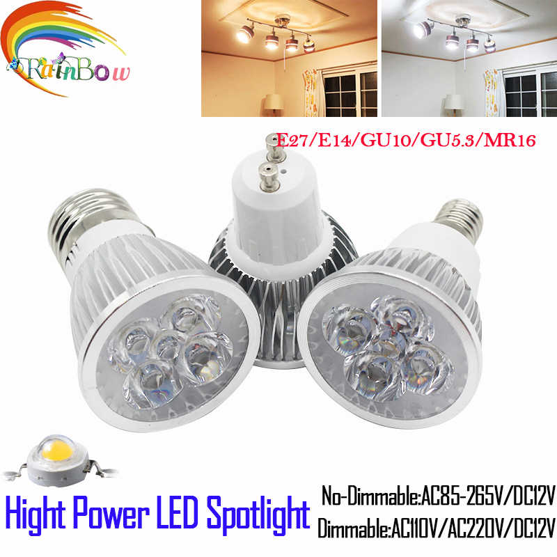 Lampada LED Projecteur E27 E14 GU10 GU5.3 Projecteur 9 W 12 W 15 W LED Ampoule 110 V 220 V Dimmable MR16 12 V CREE lumière LED