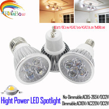 Lampada Led Spotlight E27 E14 GU10 GU5.3 Spotlight 9W 12W 15W LED Bulb 110V 220V Dimmable MR16 12V CREE LED LIGHT(China)
