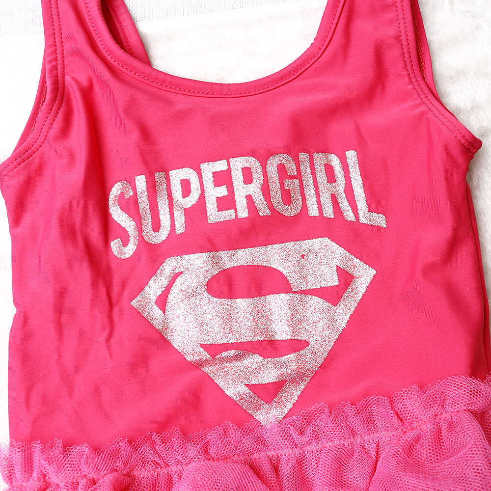 f08db1b0a22df ... One piece Girls Swimwear Supergirl swimsuit Kid Girls Swimsuit Skirt  Children Beachwear Biquini infantil SW627- ...