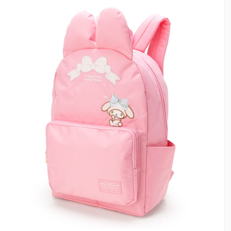 2017 news cartoon Genuine my melody and hello kiitty women backpack High quality PU pink school bags High capacity for girls цена и фото
