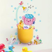 Modern Home Decoration Creative Storage Holders Lovely Cartoon Plastic Storage Cylinder/Tube with Stickers
