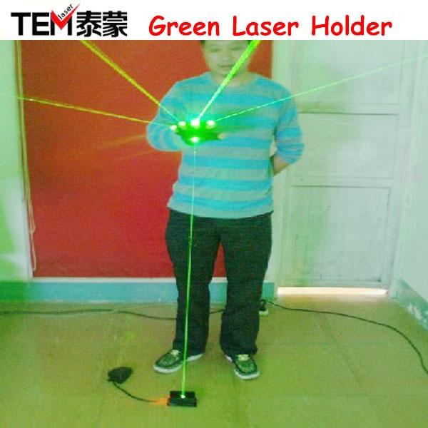 Envío gratis 532nm Green Grueso grande haz láser con interruptor de pie. Luces laser, para laser man show
