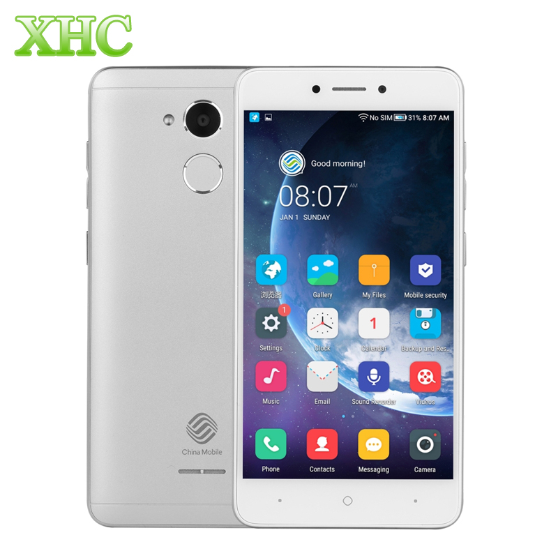 China Mobile A3S M653 Android 7.1 5.2 pollice Smartphone 8MP Quad Core RAM 2 GB ROM 16 GB di Impronte Digitali Dual SIM 4G LTE Mobile Phoness