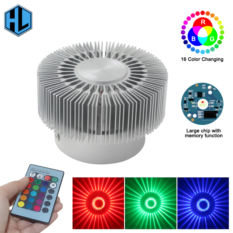 Modern RGB 3W LED wall Light sconce  fixture luminary Wall-Mounted Sunflower Lamp Industrial decoration bathroom home lightModern RGB 3W LED wall Light sconce  fixture luminary Wall-Mounted Sunflower Lamp Industrial decoration bathroom home light