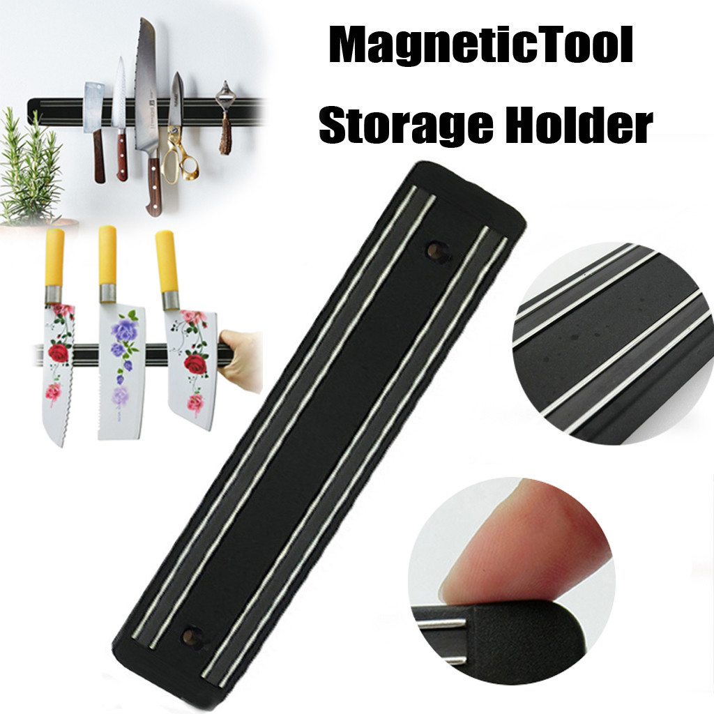 2019 New Wall Mount MagneticTool Storage Holder Chef Rack Strip Utensil Kitchen Tool Storage Holder Wall Knife