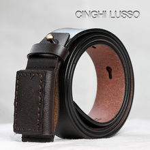 CINGHI LUSSO New man belt men high quality genuine leather luxury designer belts Leather buckle Handmade cowhide