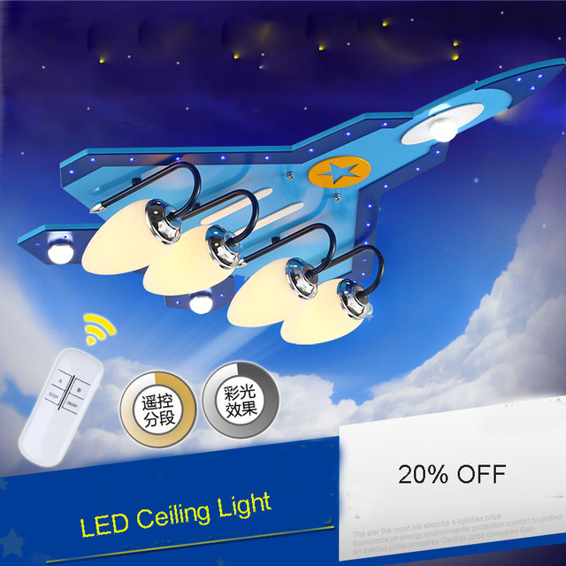Moderne kreative cartoon flugzeug lampe, jungen zimmer lampe, led deckenleuchten, kind licht AC220-240V