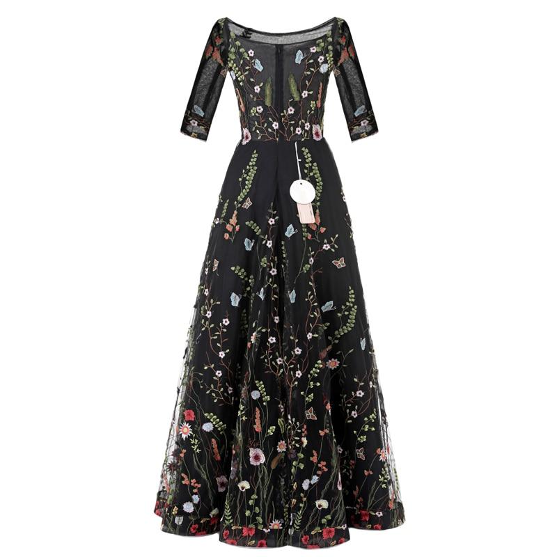 Sunvary Aangepaste Vintage Flower Embroidery Nieuwe avondjurken Tulle - Jurken voor bijzondere gelegenheden - Foto 4