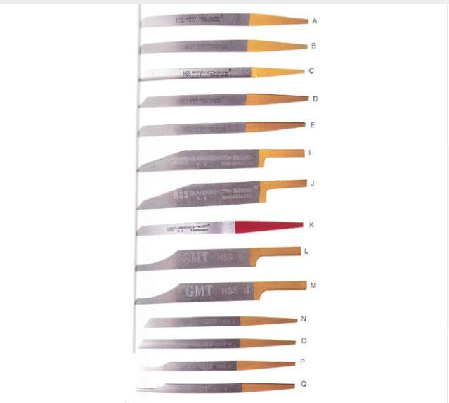 14 pcs/lot gravure couteau bijoutiers HS Graver gravure graveur mate graveurs
