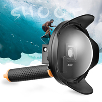 SHOOT Sunshade 6 Inch Diving Dome Port For GoPro Hero 4 3 Camera With Waterproof Case