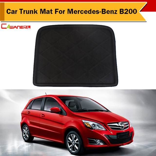 cawanerl vehicle rubber foam trunk luggage mat carpet protector boot tray liner pad waterproof for mercedes