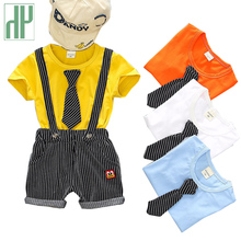 Kids Clothes Boys Summer Toddler Baby Boy Gentleman Outfits Clothes Cartoon Print T-shirt Tops+shorts Children Clothing Sets злотников р в арвендейл долгое море
