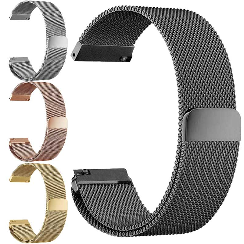 все цены на 22MM For Samsung Gear S3 Classic Frontier watch Band for samsung S2 sport Bracelet Strap xiaomi huami amazfit bip pace lite 20mm онлайн