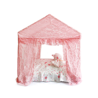 Lace Bows Palace Pink Pet Camping House Summer Assembly Puppy Small Animal Dog Home Bed Cushion Pillow Chihuahua Sofa Mat Goods