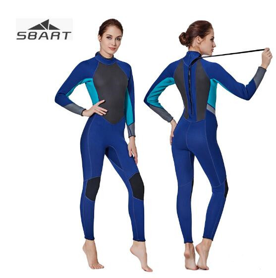 SBART Neoprene Wetsuit Women 3MM Scuba Swim Surf Suit Snoklling Surfing Diving Suit Spearfishing Wet Suit Keep Warm Swimsuit 3mm neoprene men&women scuba diving wetsuit snorkeling surfing swimming suit keep warm spearfishing full body surf wet suit