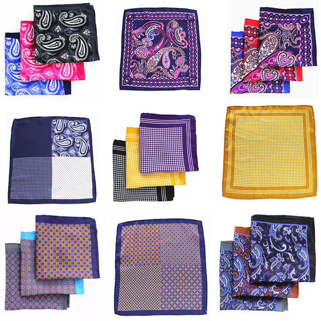 ac14ebb41d1fb 48 Styles Mans Pocket Square Paisley Design Houndstooth Color Matching  Handkerchief Luxury Printing Pocket Scarf Accessories