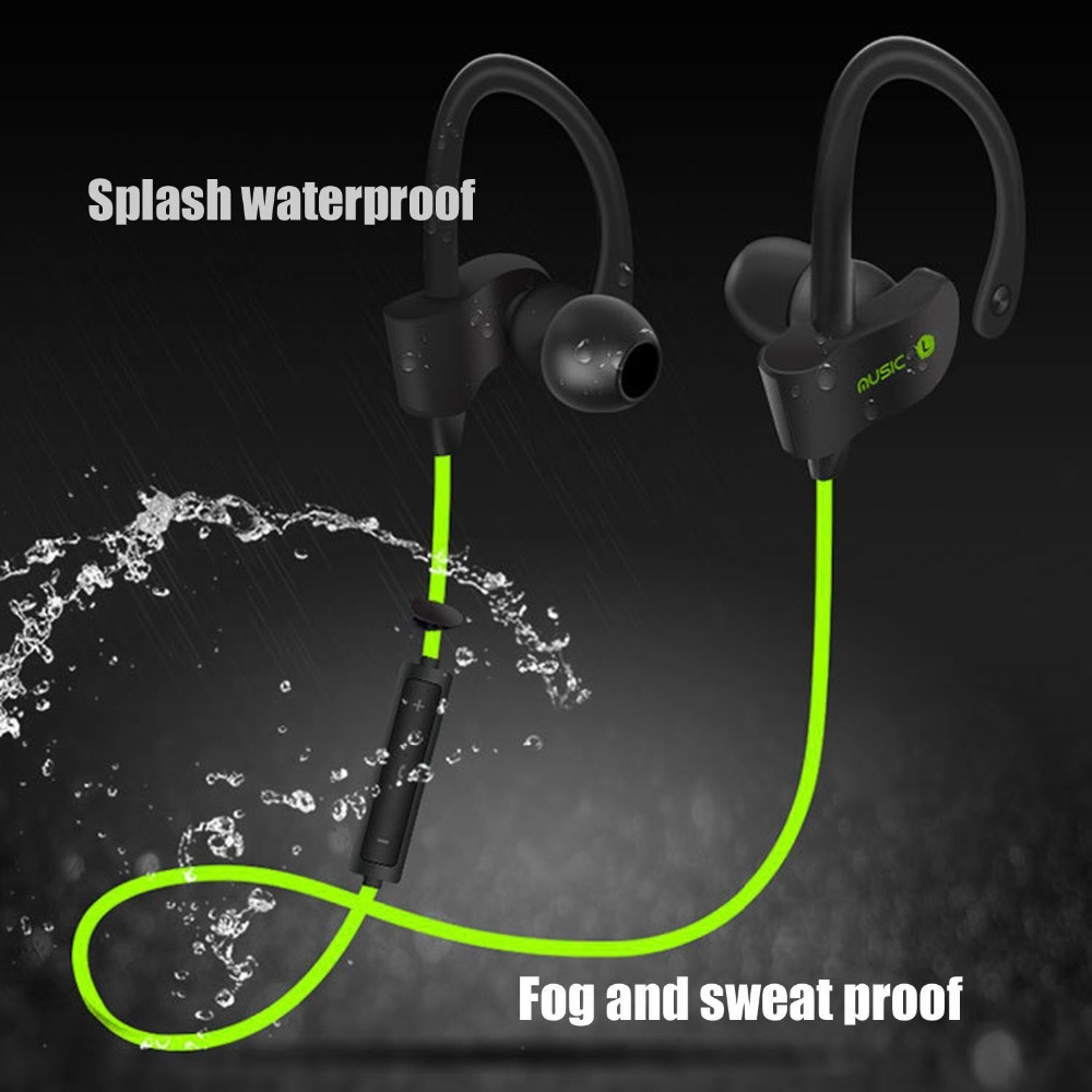 Aihontai 56S Sports Wireless Bluetooth Earphone Stereo Earbuds Headset Bass Earphones with Mic In-Ear for iPhone 6 Samsung Phone mini bluetooth earphone smallest wireless headset earbuds with 6 hour playtime car headset with mic for iphone android phone