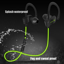 Aihontai 56S Sports Wireless Bluetooth Earphone Stereo Earbuds Headset Bass Earphones with Mic In-Ear for iPhone 6 Samsung Phone