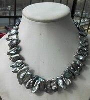 Groothandel elegante zee barokke grijze parel parel sieraden mode-sieraden PNS120