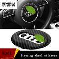 2016 New Design Carbon Fiber Steering Wheel Decoration Car Covers Interior supplies For Audi A4 B8/ A1/ A3/ A4L/ A6  Car Styling