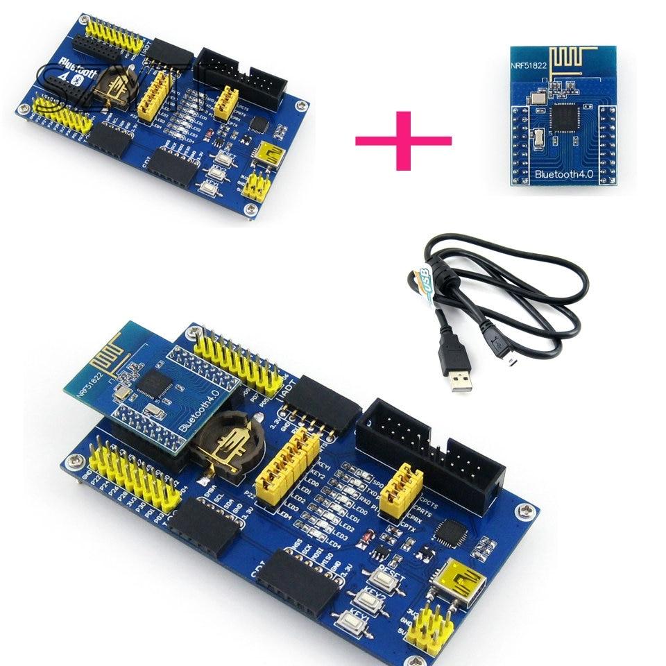 J34 Trasporto Libero NRF51822 BLE4.0 Bluetooth Scheda di Valutazione Modulo di Comunicazione Wireless 2.4GJ34 Trasporto Libero NRF51822 BLE4.0 Bluetooth Scheda di Valutazione Modulo di Comunicazione Wireless 2.4G