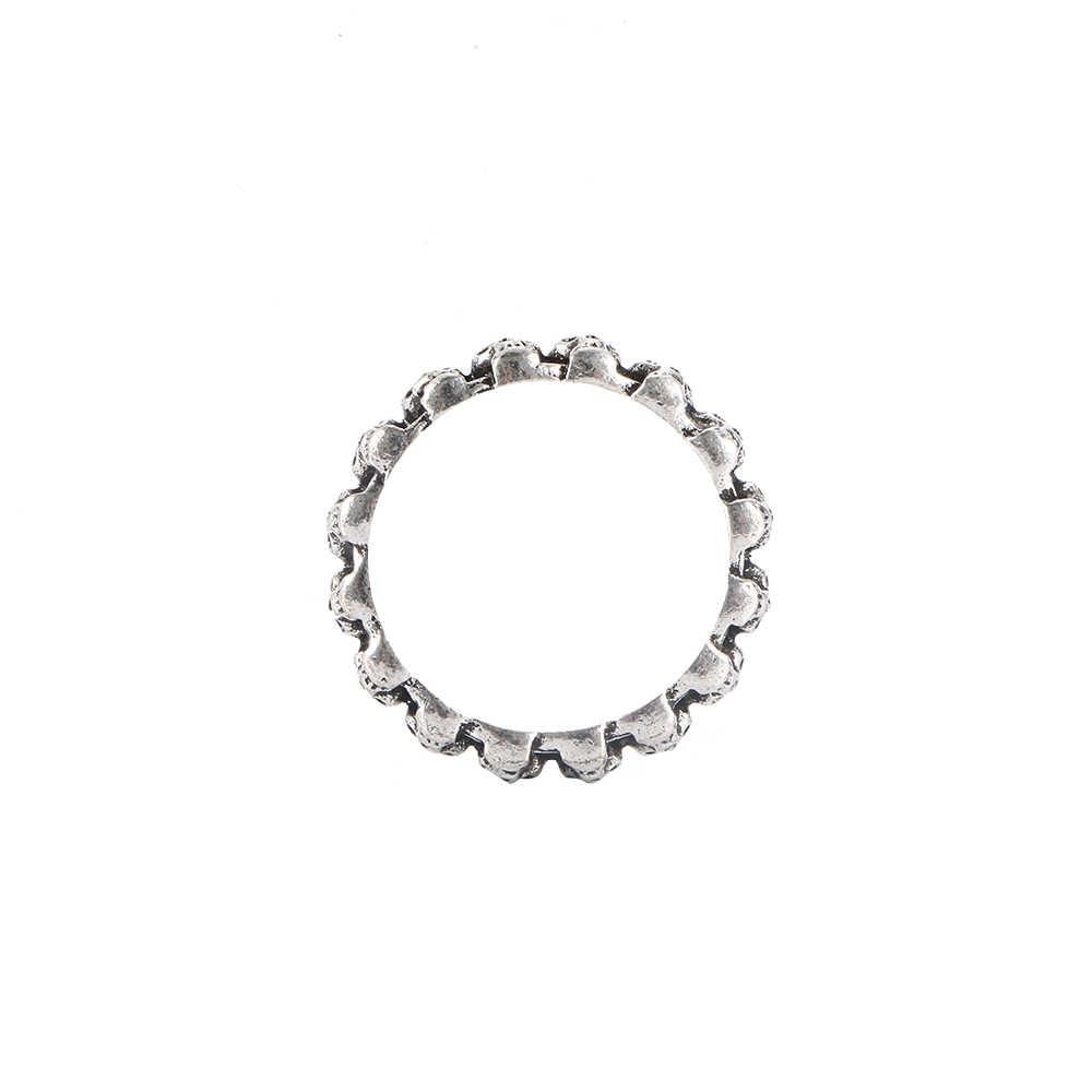 Moda mujer hombre Vintage cráneo gótico punk anillo Cool anillos de la banda de los hombres Hip Hop joyería de plata antigua bonitos regalos