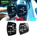 M poder desempenho adesivo automóvel gear shift knob da shift de engrenagem do carro da etiqueta para a BMW F30 F10 1 2 4 3 5 Series GT X1 X3 X4 X5 X6