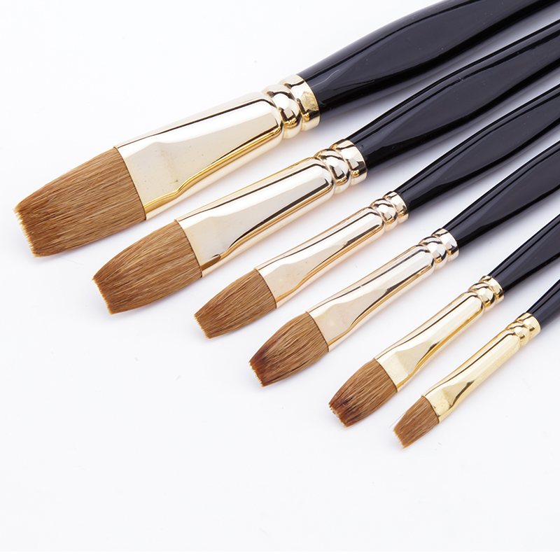 6pcs/set Weasel Hair Drawing Watercolor Oil Brush Pen for School Students Stationery Art Paint Acrylic Gouache Brushes Set free shipping new genuine original printhead printer head for dfx8500 dfx 8500 dfx8000 dfx 8000 1037283 print head printer part