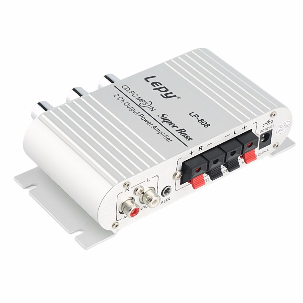 Новый 12 В Hi-Fi стерео аудио Усилители домашние Hi-Fi бас Динамик громкий Динамик для Авто Мини-MP3 MP4 PC радио