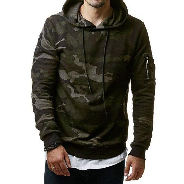 2017 Nova Camuflagem Dos Homens Hoodies e Camisolas Casaco Com Capuz Moletom Com Capuz Vestuário Masculino Moda Militar Para Homens Moletom Com Capuz Impressa