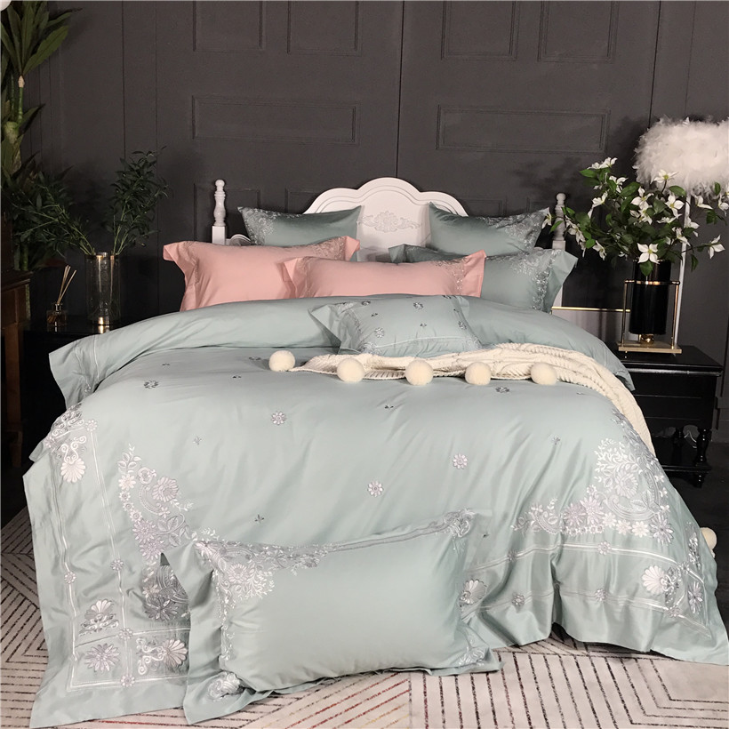Egyptian cotton Princess Bedding Set Chinese Embroidery ...