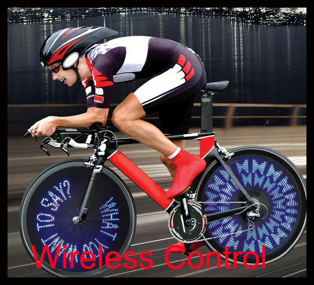 Wireless Custom Message Bike Wheel Light 30 LED Update ...