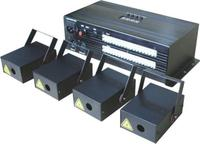 4 единицы 500 МВт синий Билайн Дискотека Лазерная Мини лазерный паук + 1 контроллер для сцены и вечеринок Club КТВ свадебные Studio освещение