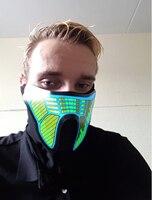دراجة نارية نصف قناع الوجه هالوين قناع تأثيري مضيئة متوهجة فلاش led الوجه حزب ديكور