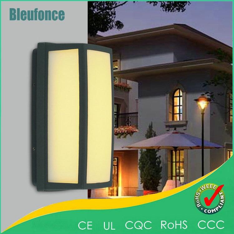 ФОТО 8W Waterproof IP65 LED Waterproof Outdoor Wall Lamp Simple Door Wall Sconce Garden Light Landscape Lighting Light AC85-165V Lamp