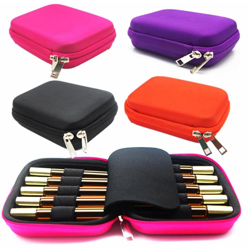 10slots 10ml Roller Essential Oil Bottle Case Protects Storage Bag Portable Travel Makeup Carrying Storage Organizer Rangement
