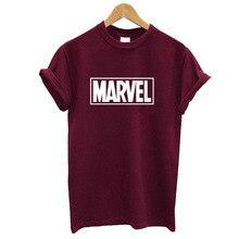 Fashion Marvel Short Sleeve T-shirt Women Black Panther print t shirt O-neck comic Marvel shirts tops Women white clothes Tee