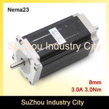 CNC Stepper Motor Double Shaft NEMA 23 57x112mm stepping motor 3N.m 3A 428Oz-in for 3D printer CNC Router engraving machine