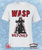W. a. s. p。ワイルドチャイルド& #039; 85ヘビーメタルバンドwaspねじれた姉妹新しいホワイトtシャツ57