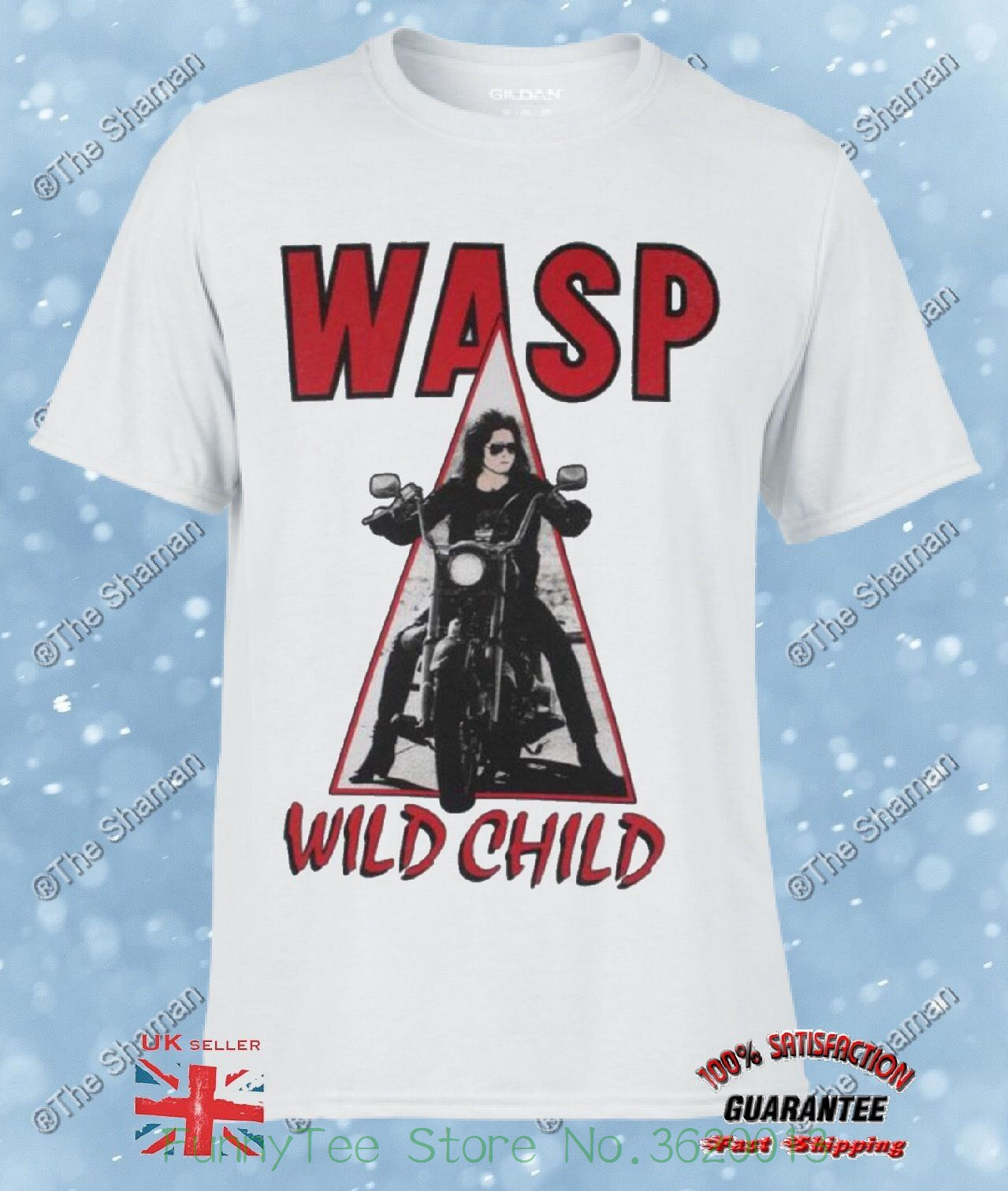 W.a.s.p. Wild Child&#039 ; 85 Heavy Metal Band Wasp Twisted Sister New White T-shirt 57