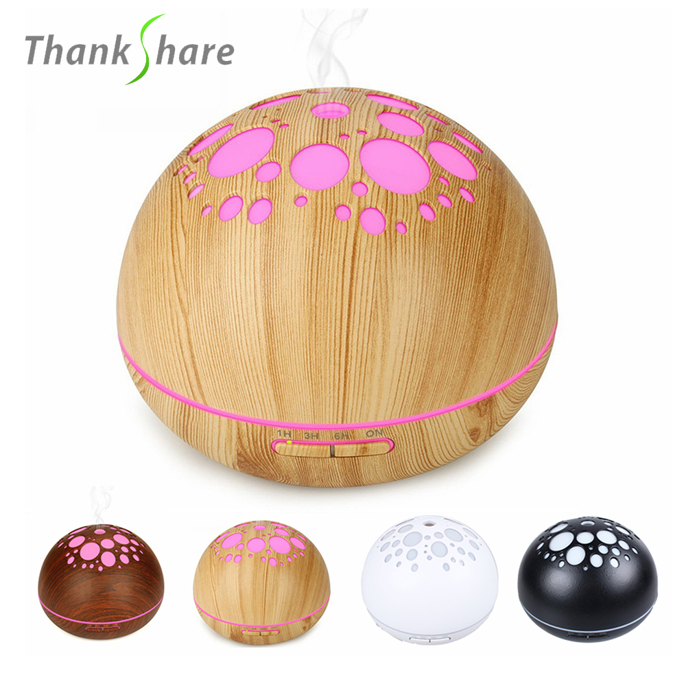THANKSHARE 300ml Ultrasonic Humidifier LED Aroma Lamp Essential Oil Diffuser Aromatherapy Mist Maker Humidificador Difusor 1 5l ultrasonic air humidifier for home essential oil diffuser humidificador mist maker 7color led aroma diffusor aromatherapy