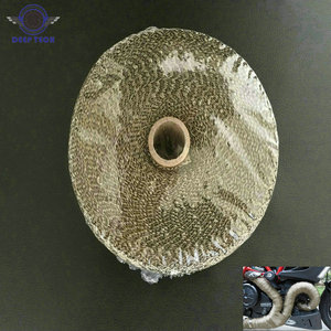 Image 1 - 2x50Ft Titan Motorrad Auspuffrohr Wrap Auto Abgaskrümmer Wärme Beständig Wrap 8 Pcs Kabel Krawatten